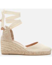 Castaner Carina Wedged Espadrille Sandals - White