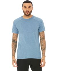 Alo Yoga Alo Yoga Triumph Crew Neck T-shirt - Blue