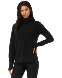 Alo Yoga Warmth Coverup Sweatshirt - Black