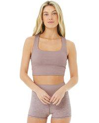 Alo Yoga Alosoft Ribbed Chic Bra Tank Top - Multicolour