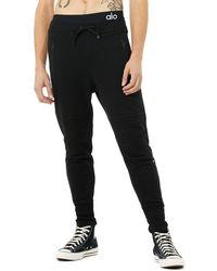 Alo Yoga Lounge Moto Jogger Trousers - Black