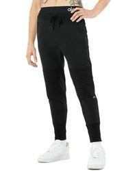 Alo Yoga Alo Yoga Technical Moto Jogger Trousers - Black