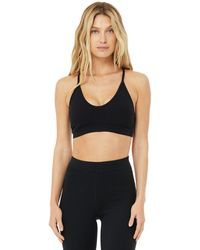 Alo Yoga Ribbed Blissful Bra - Black