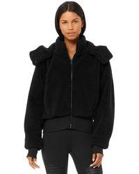 Alo Yoga Alo Yoga Foxy Sherpa Jacket - Black