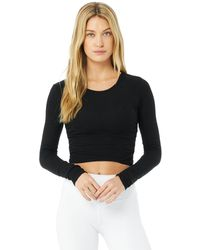 Alo Yoga Alo Yoga Gather Long Sleeve Top - Black