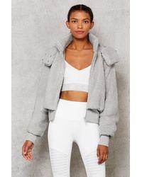 Alo Yoga Foxy Sherpa Jacket - Gray