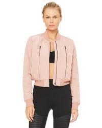 Alo Yoga Alo Yoga Off-duty Bomber Jacket 2 - Pink