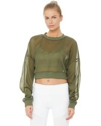 Alo Yoga Alo Yoga Row Long Sleeve Top - Green