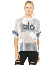 Alo Yoga Alo Yoga Yoga Jersey Short Sleeve Top - White