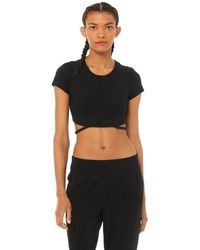 Alo Yoga Alo Yoga Halo Crop T-shirt - Black