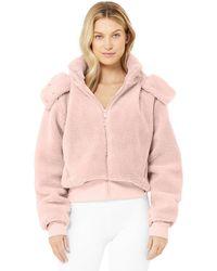 Alo Yoga Alo Yoga Foxy Sherpa Jacket - Pink