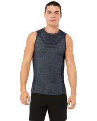 Alo Yoga Amplify Seamless Muscle Tank Top - Blue