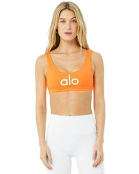 Alo Yoga Alo Yoga Ambient Logo Bra - Orange