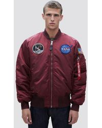 892f5b663 Alpha Industries Synthetic Ma-1 Apollo Jacket in Red for Men - Save ...