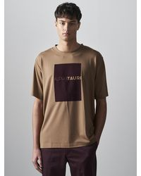 ALPHATAURI Relaxed Fit Logo T-Shirt - Mettallic
