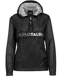 ALPHATAURI Packable Cagoule Jacke mit Transparenz Effekt - Schwarz