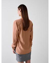 ALPHATAURI Cupro-Bluse mit V-Ausschnitt - Mehrfarbig