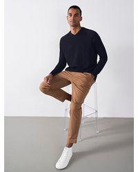 ALPHATAURI Pullover mit V-Ausschnitt - Blau