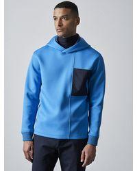 ALPHATAURI Funktionaler Hoodie aus Spacer-Material - Blau