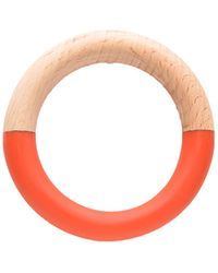 Alternative Apparel Ink + Alloy Wood And Resin Bangle - Red