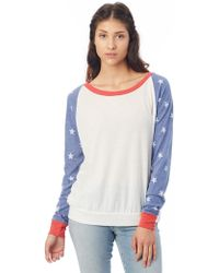 1ce42c56691 Alternative Apparel - Slouchy Printed Eco-jersey Pullover - Lyst