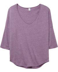Alternative Apparel - Curveball Vintage Jersey T-shirt - Lyst