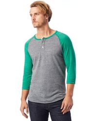 Alternative Apparel - Basic Eco-jersey Raglan Henley Shirt - Lyst