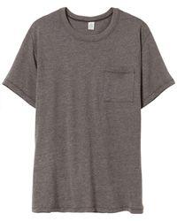 Alternative Apparel - Keeper Vintage Jersey Pocket T-shirt - Lyst