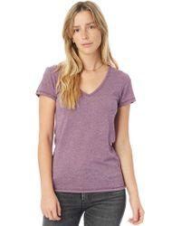 Alternative Apparel - Keepsake Vintage Jersey V-neck T-shirt - Lyst