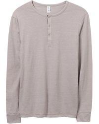 Alternative Apparel - Basic Eco-mock Twist Henley Shirt - Lyst
