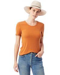 Alternative Apparel - Mia Slinky Rib Crew T-shirt - Lyst