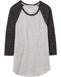 5db9c648a43 Lyst - Alternative Apparel Baseball Eco-jersey Raglan T-shirt in Natural