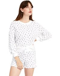 Alternative Apparel Blousy Sleeve Terry Pullover - White