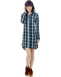Alternative Apparel - Timberwood Yarn Dye Flannel Shirt Dress - Lyst