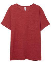 Alternative Apparel - Eco-jersey Pocket Crew T-shirt - Lyst