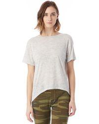 Alternative Apparel - Pony Melange Burnout T-shirt W/ Back Strap - Lyst