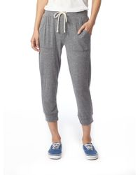 Alternative Apparel Eco Cropped Eco-jersey Jogger Pants - Gray