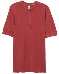 Alternative Apparel - Basic Henley Shirt - Lyst
