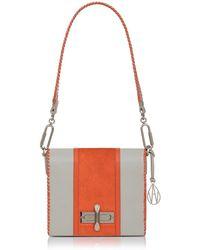 Amanda Wakeley - Leather Stripe Costello Shoulder Bag - Lyst