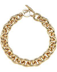Amanda Wakeley - Chunky Gold Necklace - Lyst