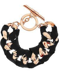 Amanda Wakeley - Chunky Rose Gold Ribbon Bracelet - Lyst