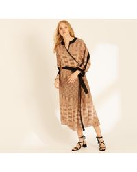 Amanda Wakeley - Copper Printed Paisley Wrap Dress - Lyst
