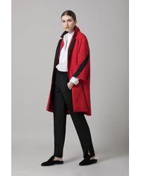 Amanda Wakeley - Red Cloque Coat - Lyst