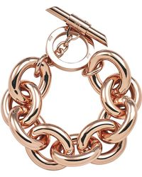 Amanda Wakeley - Chunky Rose Gold Bracelet - Lyst