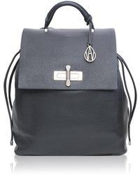 Amanda Wakeley - Elba Black Leather Backpack - Lyst