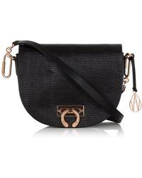 Amanda Wakeley | Crossbody Niven Bag In Black Leather | Lyst
