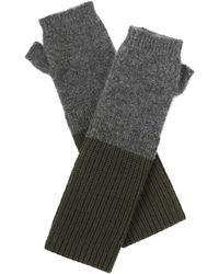 Amanda Wakeley - Hamada Khaki Cashmere Gloves - Lyst
