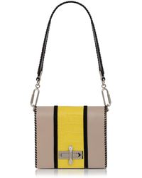 Amanda Wakeley - Sand & Lemon Yellow Costello Bag - Lyst