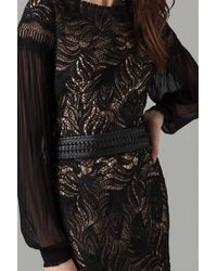 Amanda Wakeley - Black Worked Leather Belt - Lyst