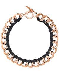 Amanda Wakeley - Chunky Rose Gold Ribbon Necklace - Lyst